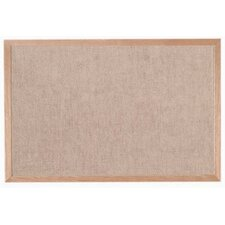 Burlap Weave Bulletin Board with Wood Frame in Sand