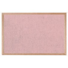 Burlap Weave Bulletin Board with Wood Frame in Rose Mauve