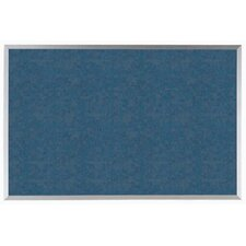 Blue Vinyl Impregnated Cork Bulletin Board with Aluminum Frame