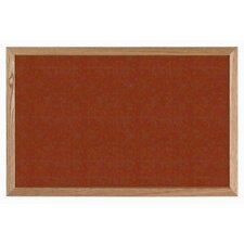 Terracotta Vinyl Impregnated Cork Bulletin Board with Wood Frame