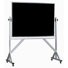 Reversible Free Standing Black Chalkboard with Aluminum Frame