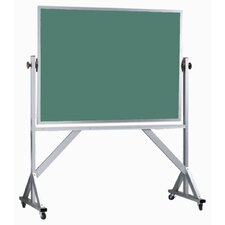 Reversible Free Standing Green Chalkboard with Aluminum Frame
