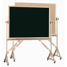 Reversible Free Standing Combination Board with Chalk Board and Bulletin Board