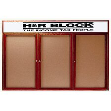 <strong>AARCO</strong> Enclosed Bulletin Board with Natural Pebble Grain Cork Back Panel