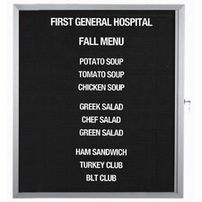 Enclosed Directory Board in Black