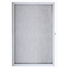 Enclosed Bulletin Board with Over Lapping Hinged Door