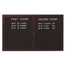 <strong>AARCO</strong> Outdoor Enclosed Aluminum Directory with Wood Look Finish