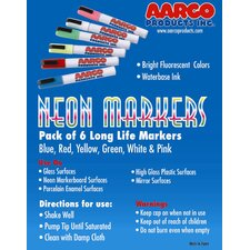 <strong>AARCO</strong> Neon Dry Erase Makers (Set of 6)