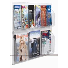 Clear-Vu 9 Pocket Combination Pamphlet and Magazine Display
