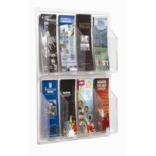 Clear-Vu 8 Pocket Pamphlet Display