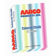 12 Piece Colored Chalk Box