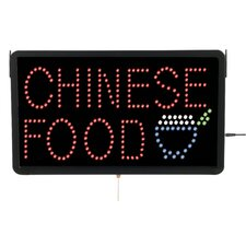 High Visibility LED Chinese Food Sign