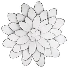 Large Flower Design Metal Art