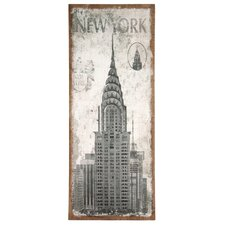 Natural Jute Canvas Art with 'New York' Design