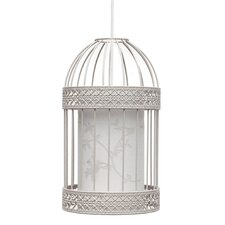 32cm Bird Cage Pendant in Stone