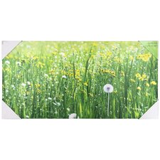 Dandelion Field Canvas Wall Art