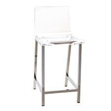"Pure Décor Acrylic 33"" Barstool (Set of 2)"