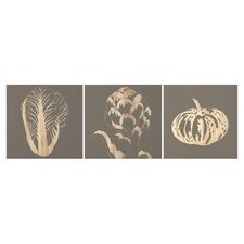 Garden 3 Piece Graphic Art Plaque (Set of 3)