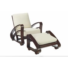 Cuban Fabric Chair and Ottoman