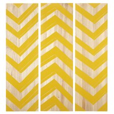 Zig Zag 3 Piece Graphic Art Plaque Set