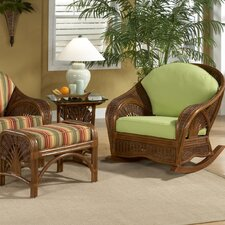 Palm Cove Rocking Chair and Ottoman
