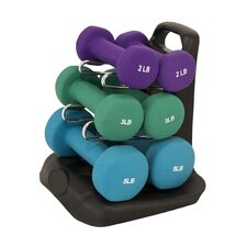 <strong>Maha Fitness</strong> Dumbbell Set with Stand