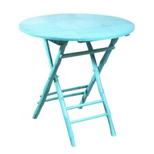 Coastal Chic Folding Round Table