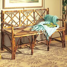 <strong>Kenian</strong> Coastal Chic Rattan English Bench