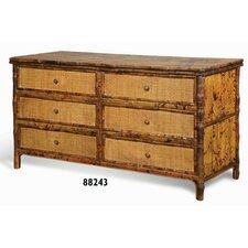 Coastal Chic 6 Drawer Standard Dresser