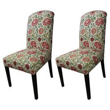 Savior Autumn Cotton Parson Chair (Set of 2)