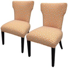 <strong>Sole Designs</strong> Amelia Chain Wingback Cotton Slipper Chair (Set of 2)