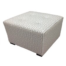 <strong>Sole Designs</strong> Kasumi Chain Cotton Square Cube Ottoman