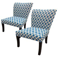 Nile Cotton Wingback Cotton Slipper Chair (Set of 2) (Set of 2)