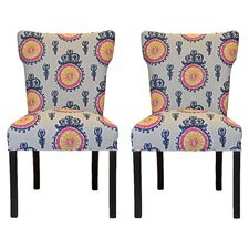 Calandra Cotton Wingback Cotton Slipper Chair (Set of 2)