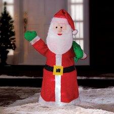 Illuminated Tinsel Santa