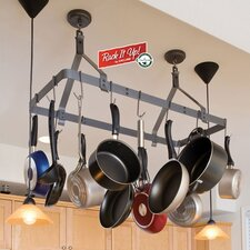 RACK IT UP! Expandable Rectangular Ceiling Hanging Pot Rack
