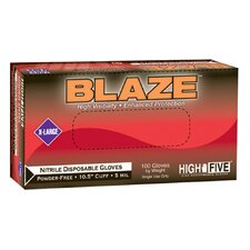 "High Five Blaze 10.5"" Nitrile Exam Gloves 1000 Count Case"