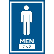 Male Symbol Comes with Braille Emboss