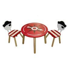 3-tlg. Kindersitzgruppe Pirat