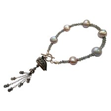 Lotus Shoes Gemstone Charm Bracelet