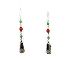 Lotus Shoes Gemstone Drop Earrings