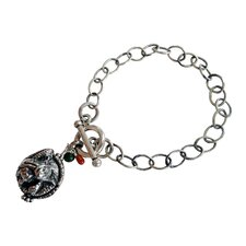 Dragon Gemstone Charm Bracelet