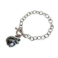 Snake Gemstone Charm Bracelet