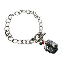 Rooster Gemstone Charm Bracelet