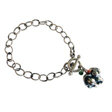Dog Gemstone Charm Bracelet