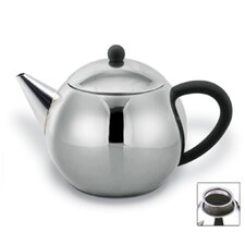 28 Oz Teapot with Black Handle in Satin