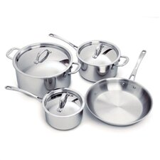 Elite 3-Ply Stainless Steel 7-Piece Cookware Set