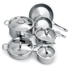 <strong>Cuisinox</strong> Elite 3-Ply Stainless Steel 10-Piece Cookware Set
