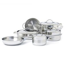 <strong>Cuisinox</strong> Gourmet 3-Ply Stainless Steel 10-Piece Cookware Set