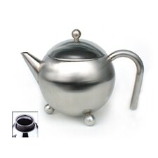 12 Oz Footed Teapot with Infuser in Satin